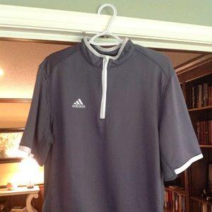 Adidas climacool short sleeve quarter zip.